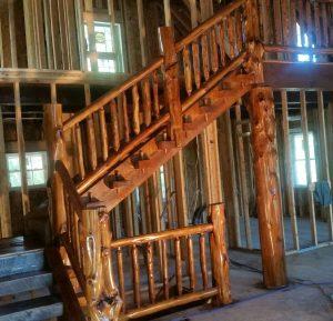 Log Stairs Wtih Landing