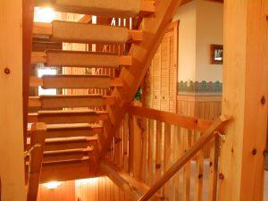 Interior Log Staircase