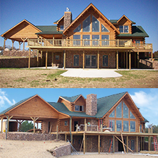 Large Custom Log Home